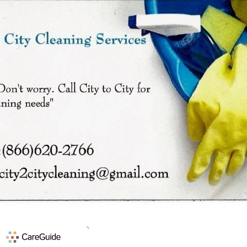 Housekeeper Provider City to City Cleaning Services's Profile Picture