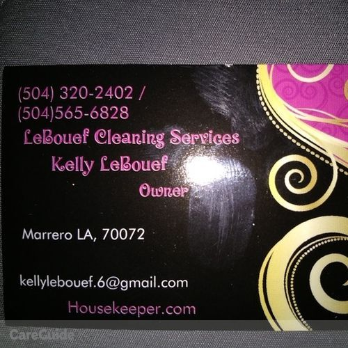 Housekeeper Provider Kelly LeBouef's Profile Picture