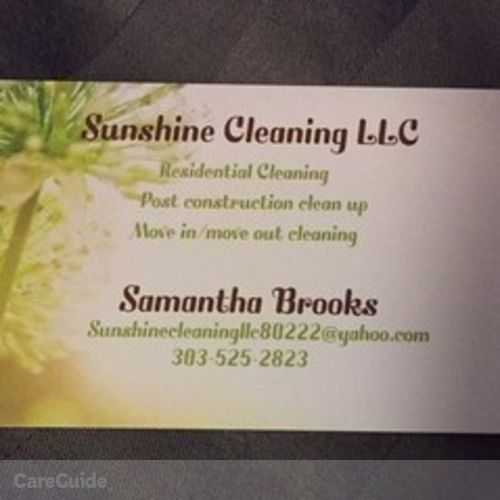 Housekeeper Provider Samantha Brooks's Profile Picture