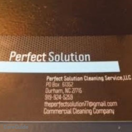 Housekeeper Provider Perfect Solution,LLC Cleaning Services's Profile Picture