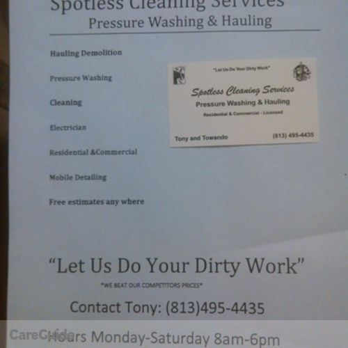 Housekeeper Provider Tony Smith's Profile Picture