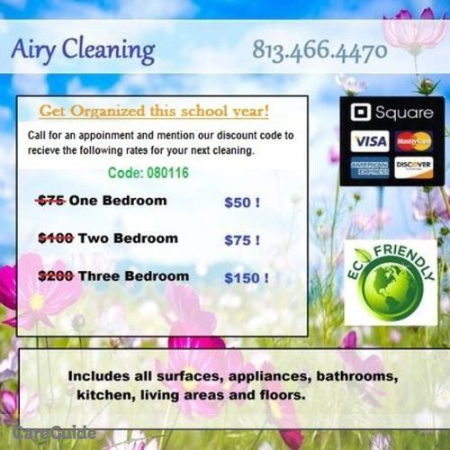 Housekeeper Provider Airy Cleaning's Profile Picture