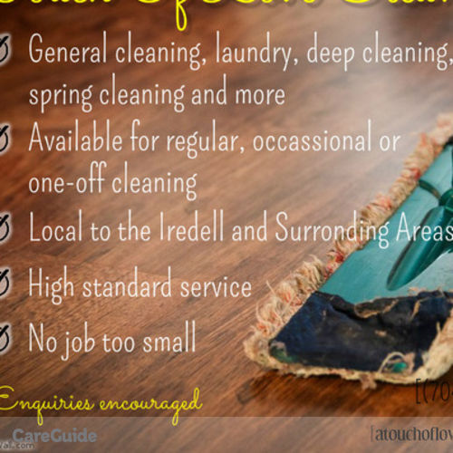 Housekeeper Provider A Touch Of Love Cleaning Service's Profile Picture