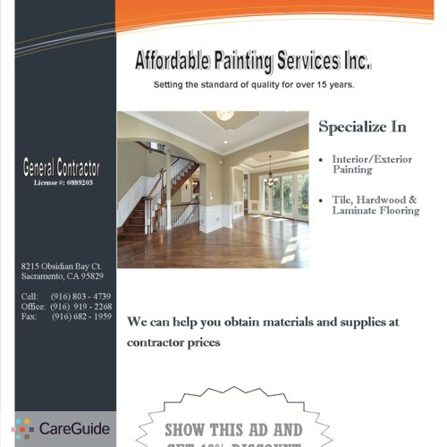 Painter Provider Affordable Painting Services's Profile Picture