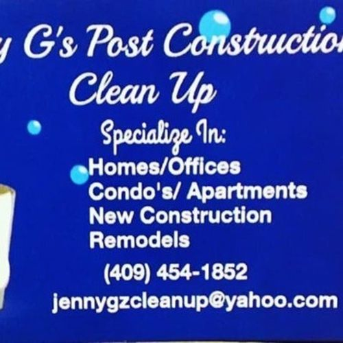 I am a licensed and insured and I take pride n my cleaning because I love it and I would love to be your cleaning lady.