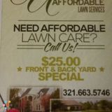 Professional lawn cutting at an affordable price