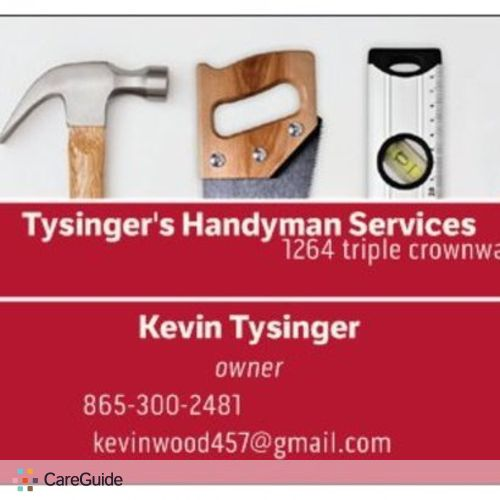 Handyman Provider Kevin Tysinger's Profile Picture