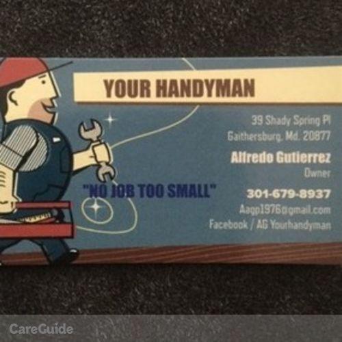 Handyman Provider Alfredo Gutierrez's Profile Picture