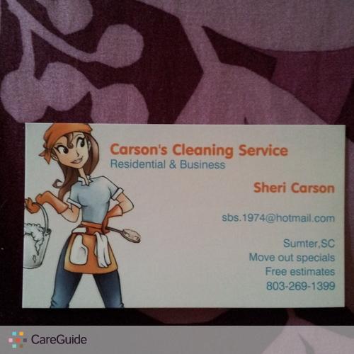 Housekeeper Provider Sheri Carson's Profile Picture