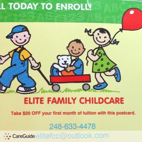 Child Care Provider Elite Family Childcare's Profile Picture