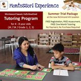 Montessori Experience' Tutoring: Free Summer Trial Package