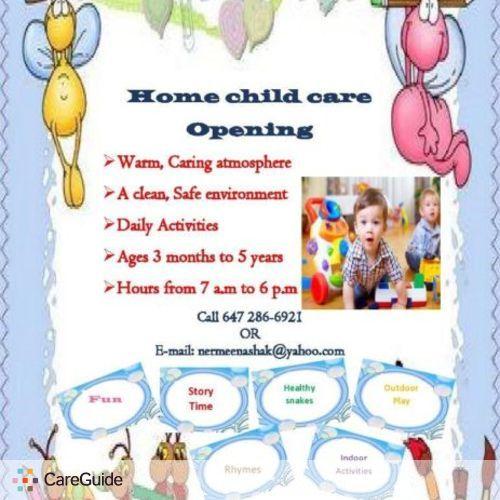 Child Care Provider Nermin M's Profile Picture