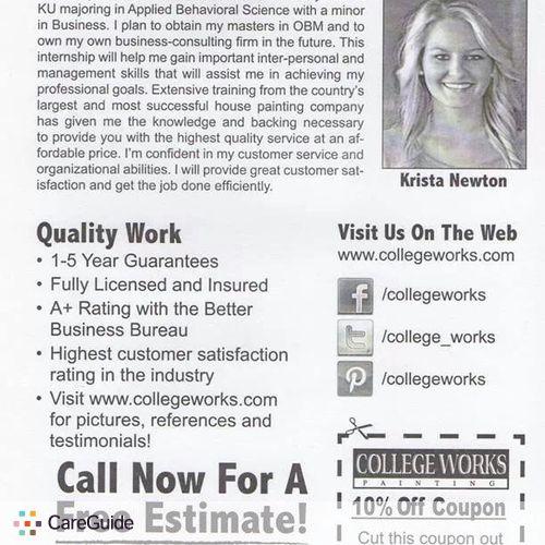 Painter Provider Krista Newton's Profile Picture