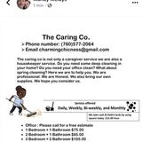 My name is Colleen Coleman. I have a sma housekeeping business. I do spring cleaning, organization, and more. I have a flyers