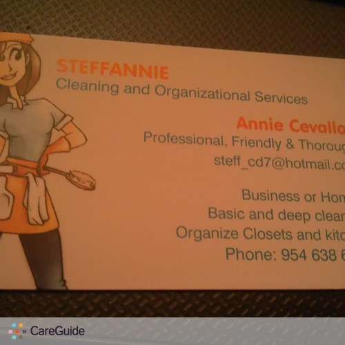 Housekeeper Provider Annie Cevallos's Profile Picture