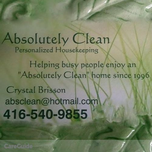 Housekeeper Provider Crystal Brisson's Profile Picture