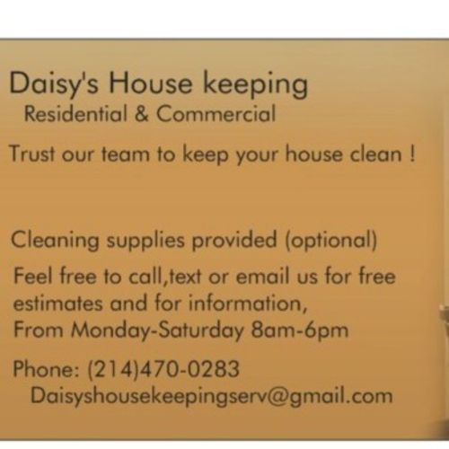 Housekeeper Provider Daisy Vargas's Profile Picture