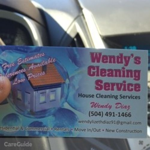 Housekeeper Provider Wendy Diaz's Profile Picture