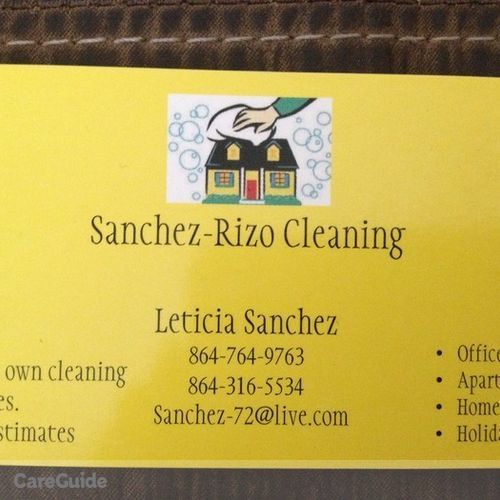 Housekeeper Provider Leticia Sanchez's Profile Picture