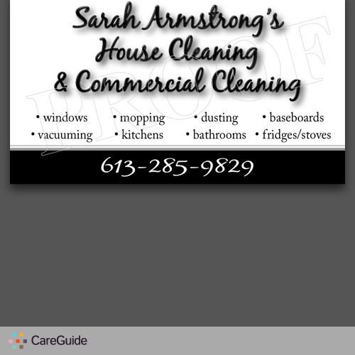 Housekeeper Provider Sarah Armstrong's Profile Picture