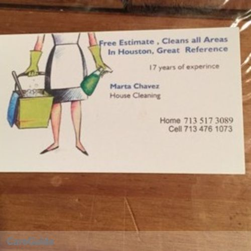 Housekeeper Provider Marta Chavez's Profile Picture