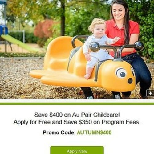 Child Care Provider AUPAIRCARE can help you with Childcare. Apply for FREE today with September promotion!'s Profile Picture