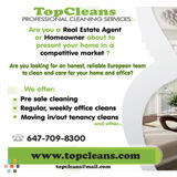 House Cleaning Company, House Sitter in Brampton