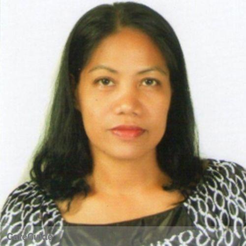 Canadian Nanny Provider Conchita Almojuela's Profile Picture