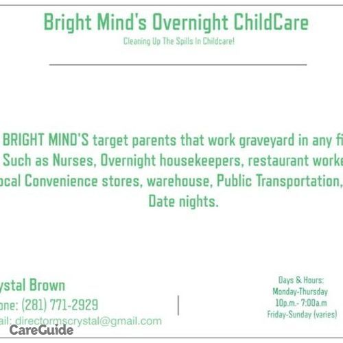 Child Care Provider Crystal Brown's Profile Picture