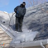 Ice Removal From Roof Gutters And Down Spout