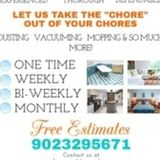 professional cleaning team of 2 available for cottage,Airbnb, 16 years experience in regular cleaning and so much more