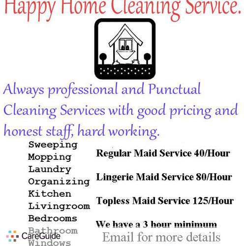 Housekeeper Provider Happy Home Cleaning Service's Profile Picture