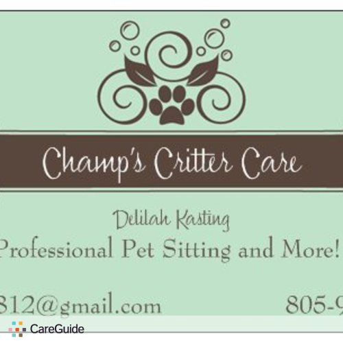 Pet Care Provider Delilah Kasting's Profile Picture