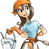 Brunette With A Bucket House Cleaning Service. Thorough & Hardworking. Immediate Availability