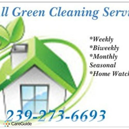 Housekeeper Provider All Green Cleaning Service licenced Bounded's Profile Picture
