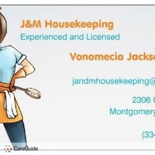 Housekeeper Provider Vonomecia Ashley's Profile Picture