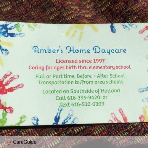 Child Care Provider Amber M's Profile Picture
