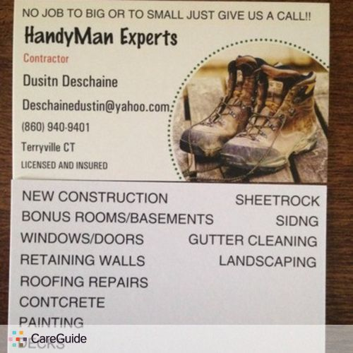 Handyman Provider Dustin Deschaine's Profile Picture