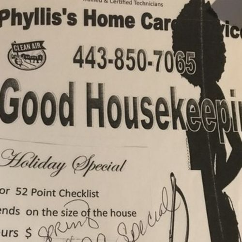 Housekeeper Provider P & Ford's Home Care & Maintenance Service P Gallery Image 1