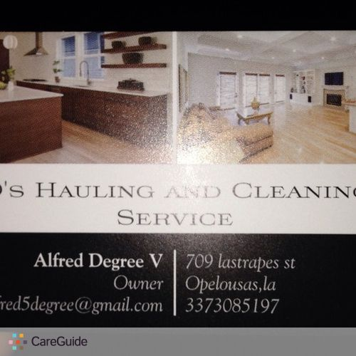 Housekeeper Provider Alfred Degree's Profile Picture