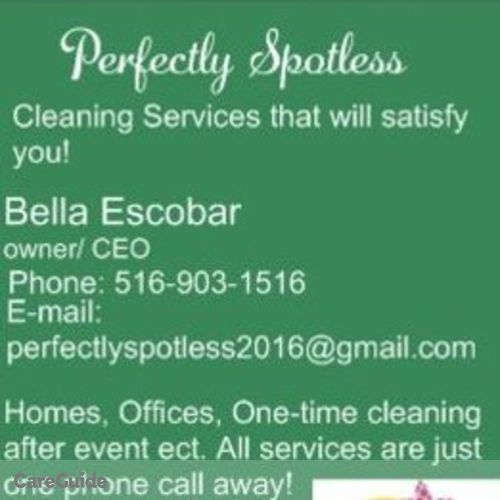 Housekeeper Provider Bella Escobar's Profile Picture