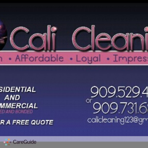 Housekeeper Provider Cali Cleaning's Profile Picture