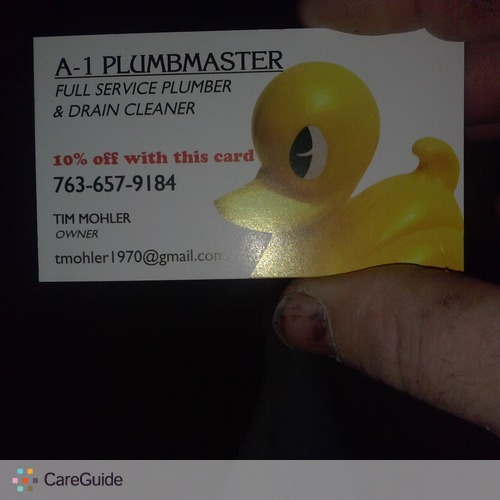 Plumber Provider Tim Mohler's Profile Picture