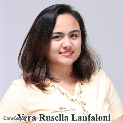Canadian Nanny Provider Vera Rusella Lanfaloni's Profile Picture