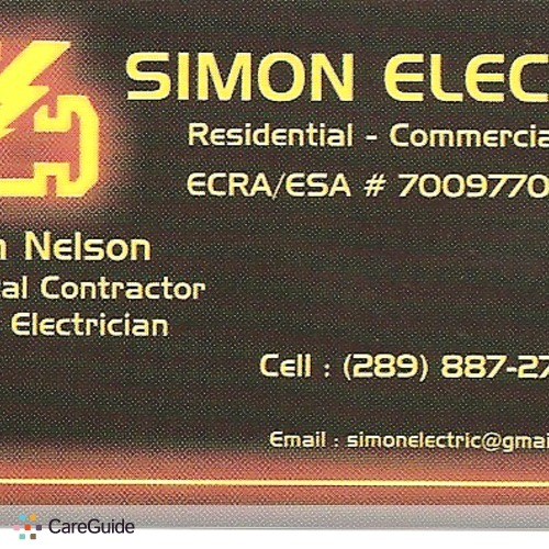 Electrician Provider Simon N's Profile Picture