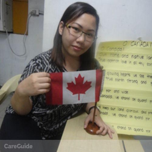 Canadian Nanny Provider Rizalyn Buraga's Profile Picture
