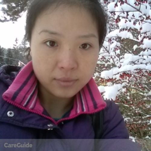Canadian Nanny Provider Xinwen Wang's Profile Picture