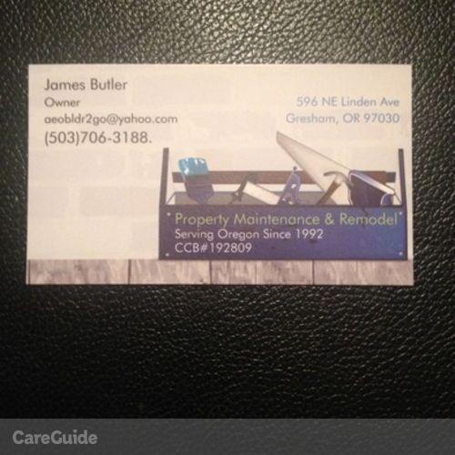 Handyman Provider James Butler's Profile Picture