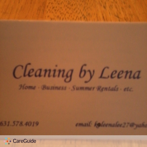 Housekeeper Provider Cleaning By Leena's Profile Picture