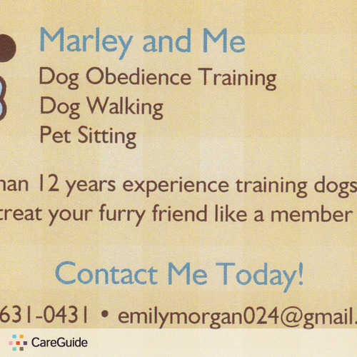 Pet Care Provider Emily Morgan's Profile Picture